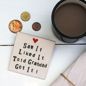 Saw It Got It Grandparent Coaster - gifts under £25