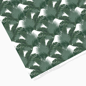 Dark Tropical Palm Leaf Mix Wrapping Paper