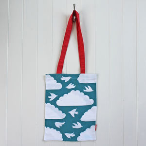 Book Bag In Cloud Design - shopper bags