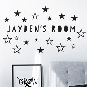 Name And Stars Wall Stickers - children's room