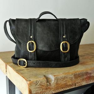 Black Leather 'Chloe' Bag