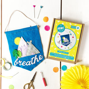 Breathe Diy Felt Banner Craft Kit - toys & games