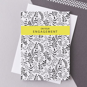 'On Your Engagement' Greetings Card