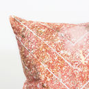 Glitter print cushion with gold foil detail-2
