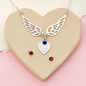 Personalised Guardian Angel Always With You Necklace