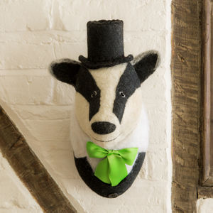Brigadier Billie The Badger Head - home accessories