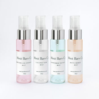 Set Of Four Mini Setting Mists