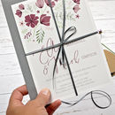 Personalised Marsala Floral Wedding Invitation