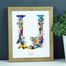 Personalised T To Z Wildlife Alphabet Letter Print