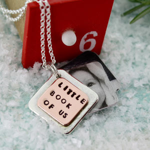 Little Book Photo Locket - lockets