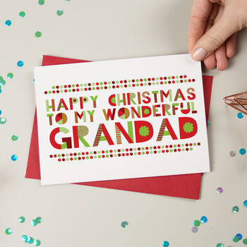 Wonderful Gramps/Grampy/Grandad Christmas Card