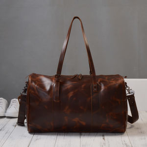 Eazo Business Travel Leather Unisex Duffle Bag - men's accessories