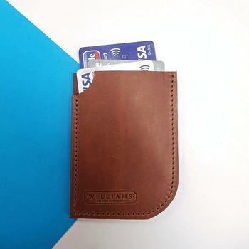 Personalised Handmade Leather Card Case