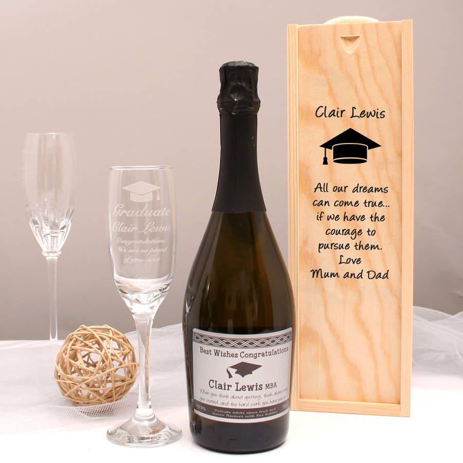 Personalised Prosecco Graduation Gift Set & personalised prosecco graduation gift set by giftsonline4u ...
