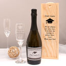 Personalised Prosecco Graduation Gift Set