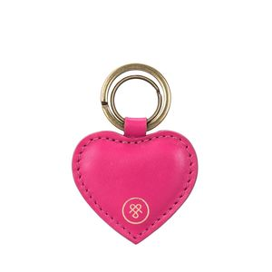 Personalised Heart Shaped Leather Key Ring 'Mimi Nappa'