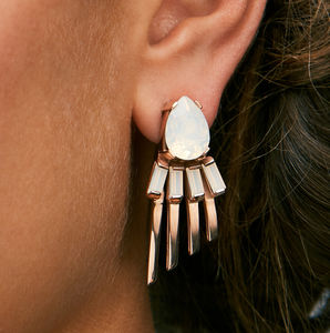 Arctic Statement Opal Earrings - winter sale