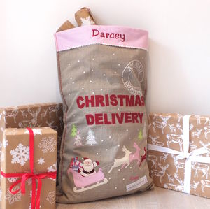 Christmas Delivery Luxury Linen Sack
