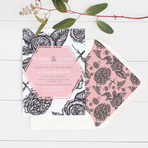 Modern Rose Wedding Invitations - what's new