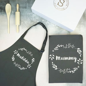 Personalised Mummy And Me Baking Hamper - aprons