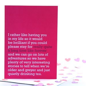 'Really Quite A Long Time Like Forever' Card - cards, ribbon & wrap