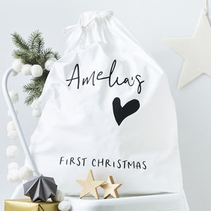 Personalised First Christmas Sack - christmas decorations