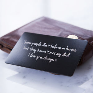 Personalised Message Wallet Keepsake Card - home sale