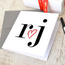 Personalised Initials Love Heart Card