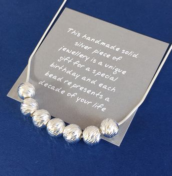 70th Birthday Handmade Sparkly Beads Necklace
