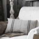 Vintage French Linen Striped Cushion