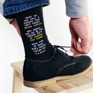 Cheesy Dad Jokes Socks