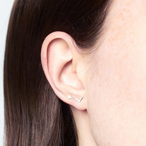 Tiny Geometric Studs Set - contemporary jewellery