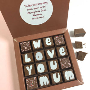 Chocolates With Personalised Message For Mum