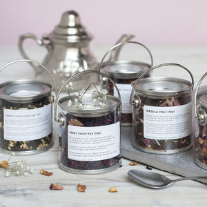Wedding Tea Or Spice Favour Mini Bucket 50g - edible favours