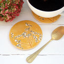 Mustard Wild Flower Ceramic Coasters