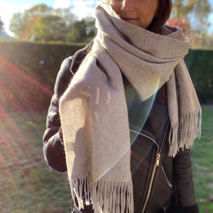 Embroidered Lambswool Blanket Scarf - view all new