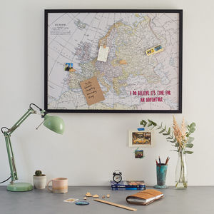 Personalised Fabric Europe Map Notice Board