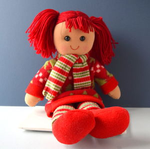 Babies' Personalised 1st Christmas Rag Doll
