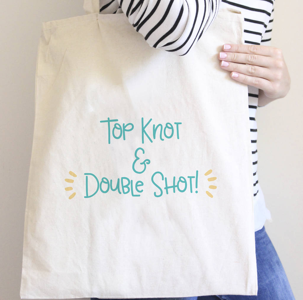 Top Knot And Double Shot Bag