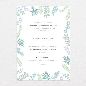 Natural Botanicals Wedding Invitations - what's new