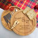 Personalised Couples Cheeseboard And Knives Set