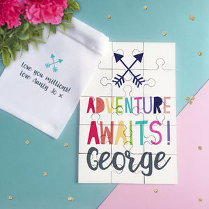 Adventure Awaits Personalised Jigsaw Puzzle