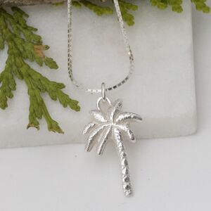 Silver Palm Tree Necklace