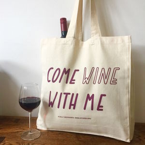 Come Wine With Me Canvas Tote Bag