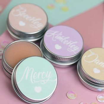 Personalised Pastel Prosecco Lip Balm Favour