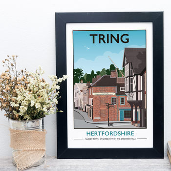 Tring High Street, Hertfordshire Print In Day Or Dusk