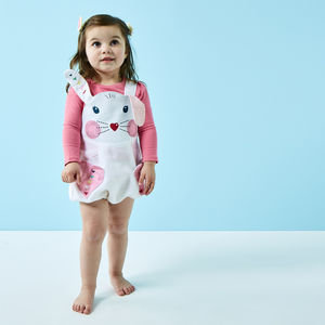 White Rabbit Baby Romper In Linen - babygrows