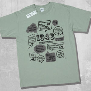 'Events Of 1948' 70th Birthday T Shirt