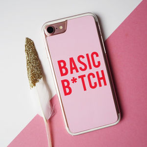 Basic B*Tch iPhone Case Gift For Her