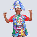 Colour In Fancy Dress Set Pirate * With Free Gift